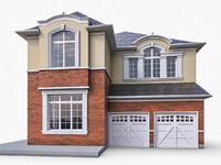 ms12 cottage houses 3d model
