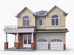 ms12 cottage houses 3d max