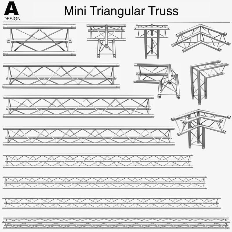 mini triangular truss 009 obj