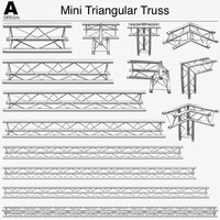 mini triangular truss 009 obj