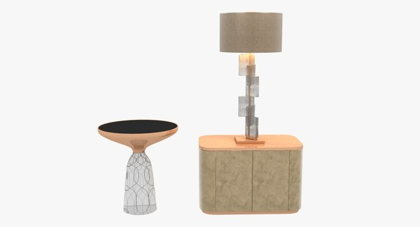 table lamp donghia esha 3d 3ds
