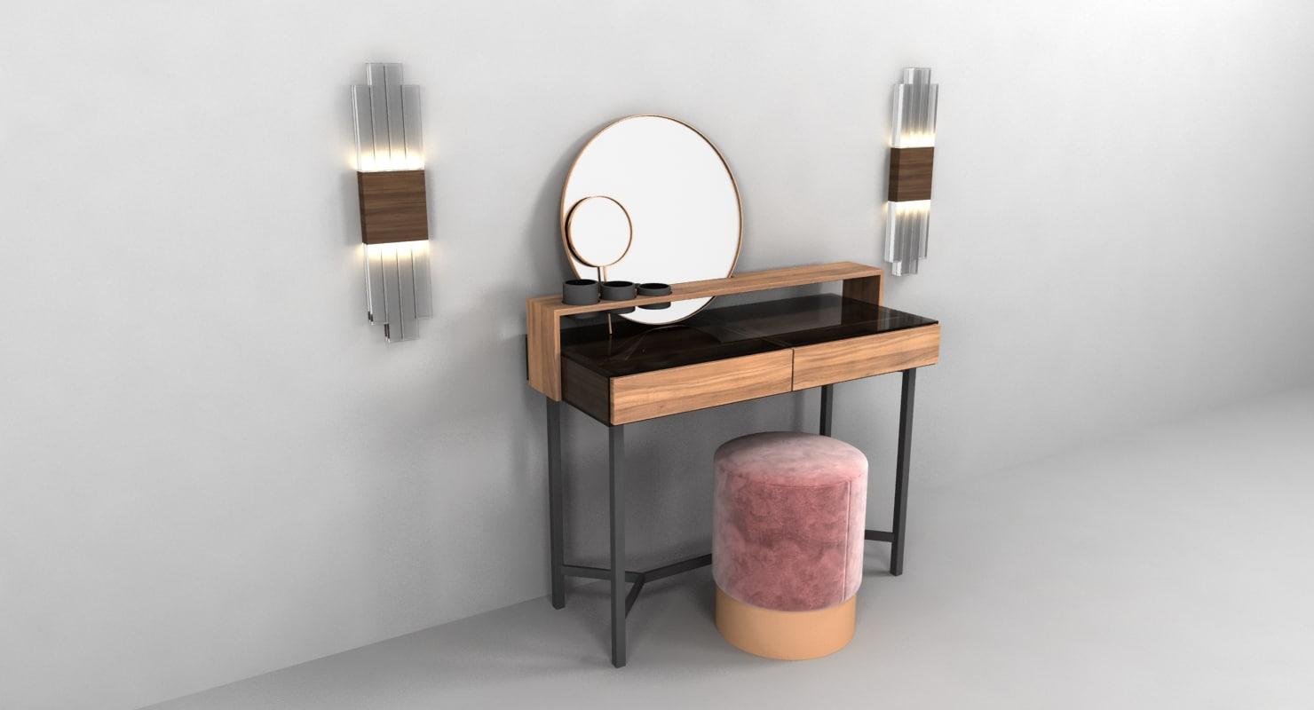 3d table virtu ornatu dressing model