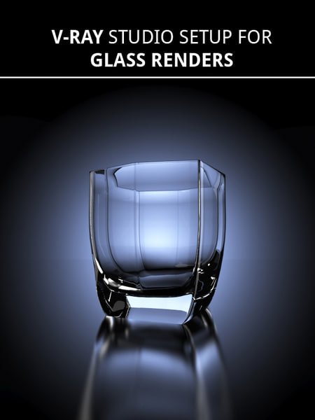 glass studio scene setup 3d model