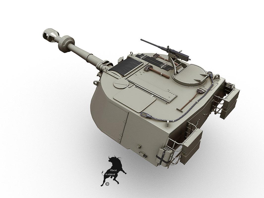 turret m-109 g 3d model