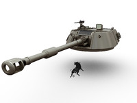 Turret for M-109 A2 or post versions