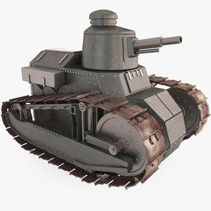 generic cartoon tank 3d model