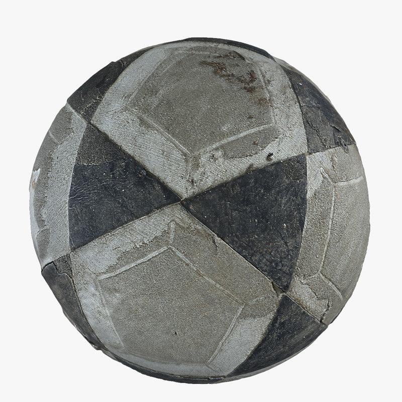 old football 3d model