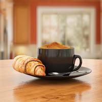 coffee croissant 3d model