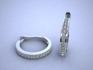 3d earring diamond road model