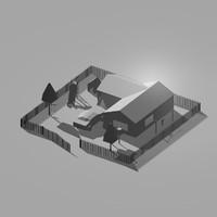 scene house obj