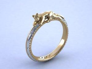 3d ring cat model