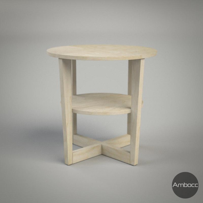 ikea vejmon table birch 3d obj