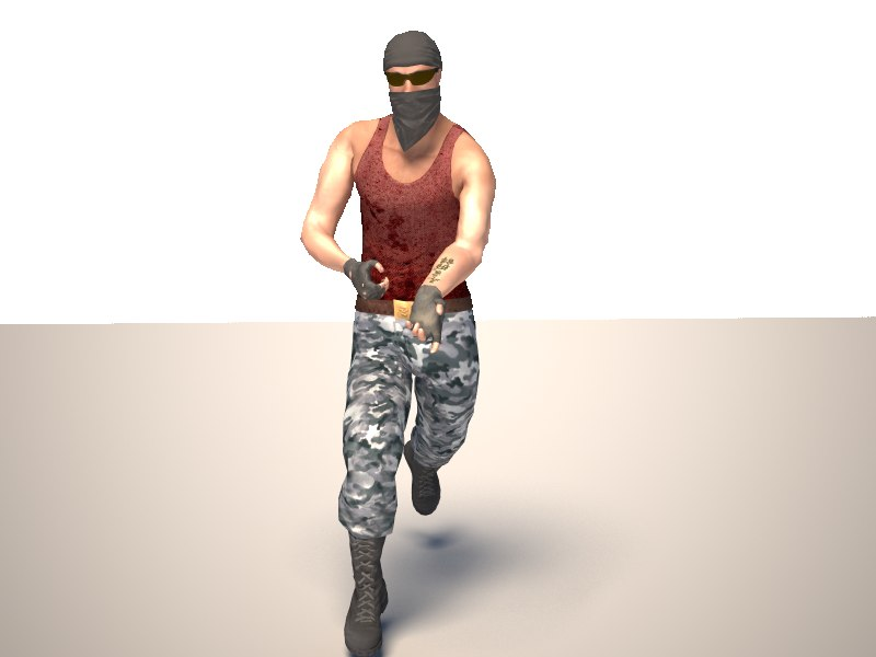 3d terrorist character mercenary