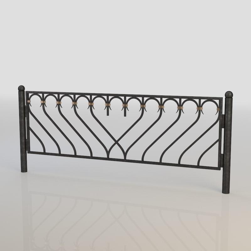 3d iron fence