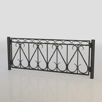 iron fence obj