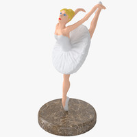 3d model balerina stand