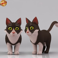 3d model cartoon cat toon