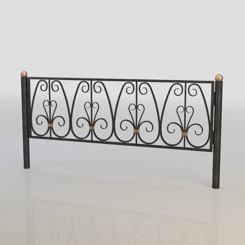 iron fence 3d model