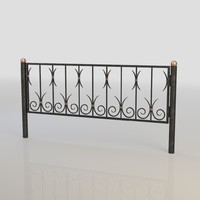 3d iron fence model