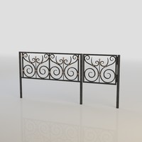 3d iron fence