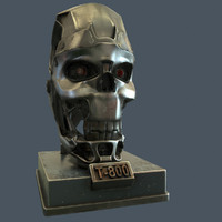 3d model terminator skull