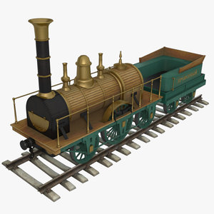 agile steam locomotive 1836 3d model