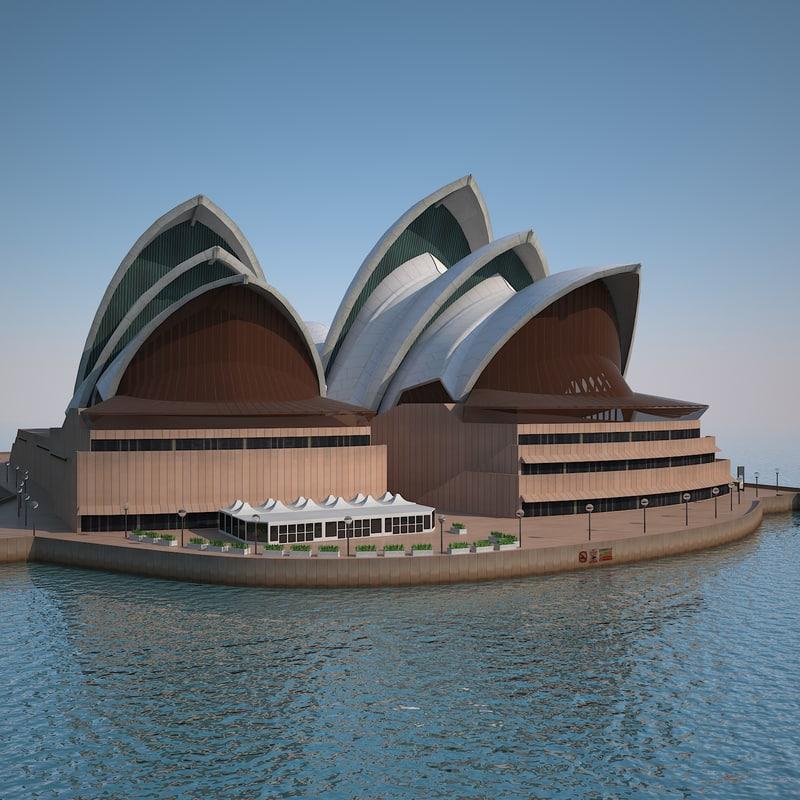 3d sydney opera house model
