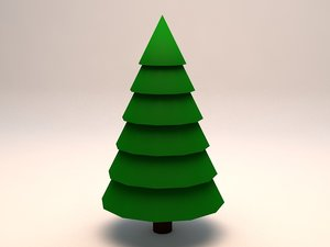 3d 3ds large pine tree