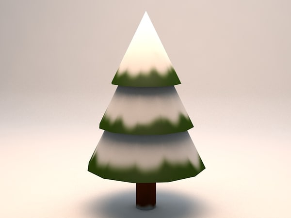 small snowy pine tree 3d 3ds