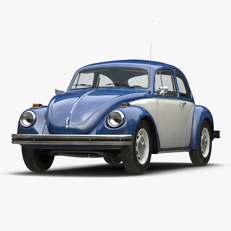 3ds model of Volkswagen Beetle 1966 Blue 00.jpg