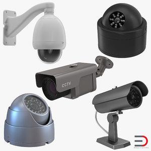 3d model cctv cameras