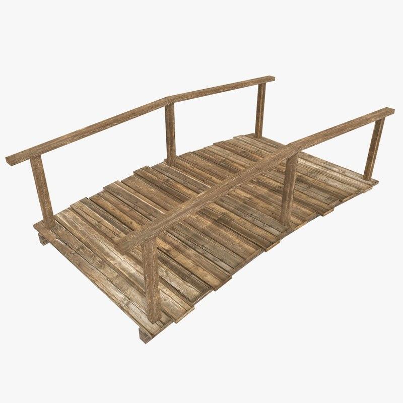 old wooden bridge 3ds