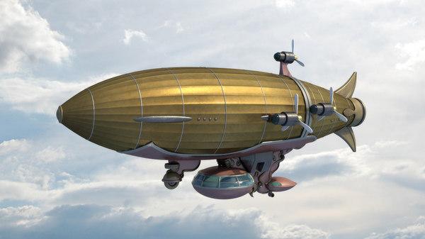 obj vintage zeppelin