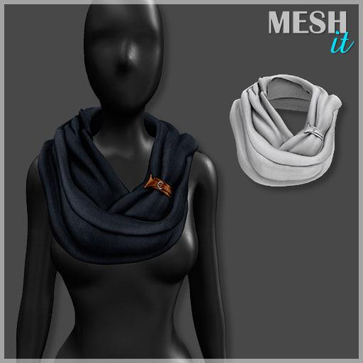scarf 3d model