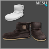 3d winter slippers model