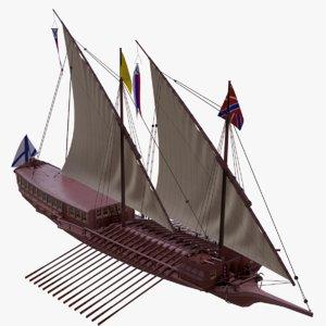 3d model haller sails
