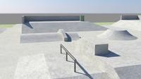 3d skatepark model