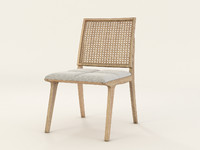 c120 wood chair 3d model
