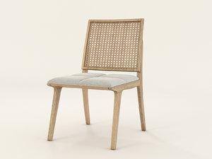 c120 wood chair 3d model