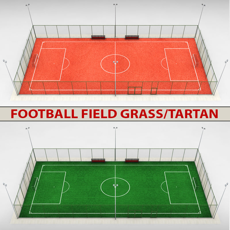 football soccer stadium field 3d 3ds