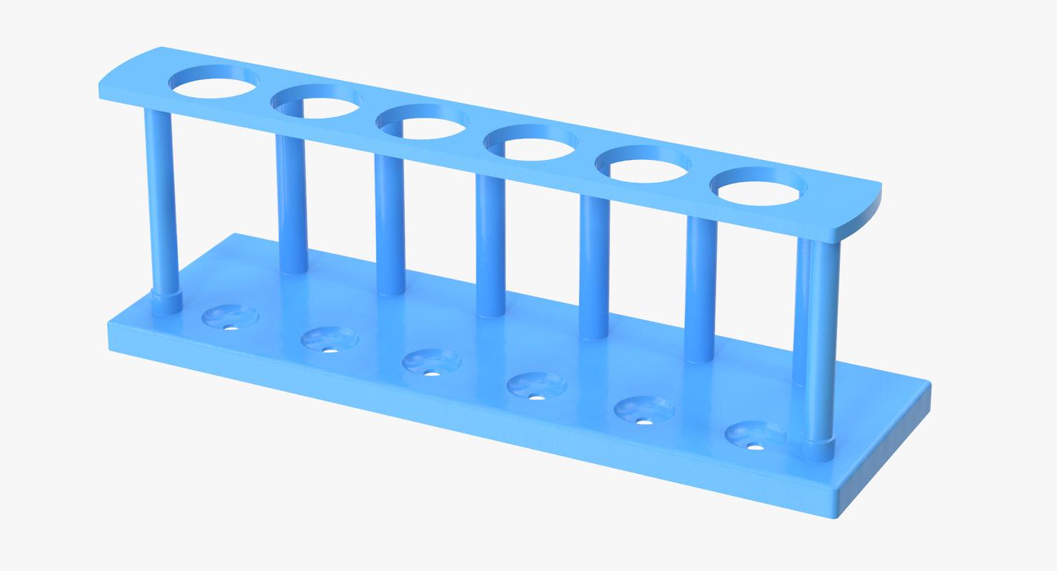test tube rack 02 3d c4d