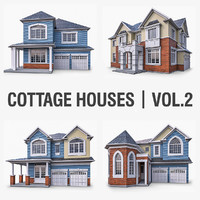 Cottage Houses Vol 2 - 4 Pack