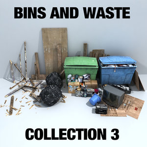 bins waste collections 3d model