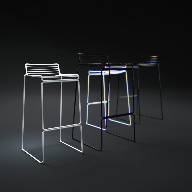 3d model hay-hee-bar-stool