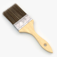 3d model of paint brush v2