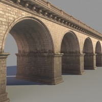 bridge architectural historical 3d max