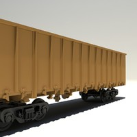 Open cargo wagon