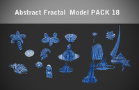 Abstract Fractal  model PACK 18
