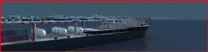 3d port harbour refinery model