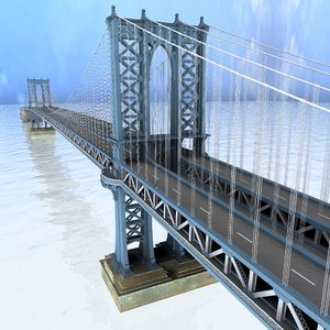 manhattan bridge nyc obj